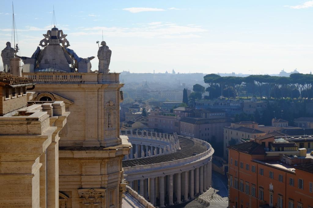 Utsikt fra taket på Peterskirken